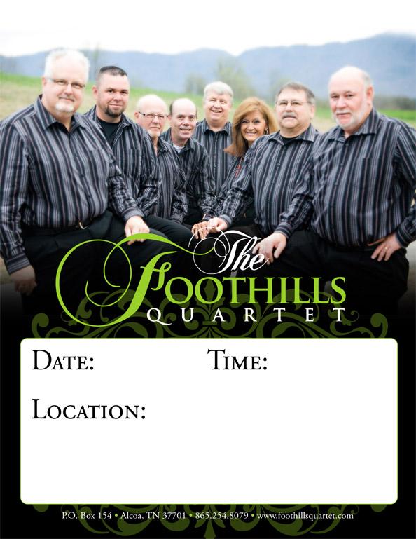 Foothills Quartet concert poster
